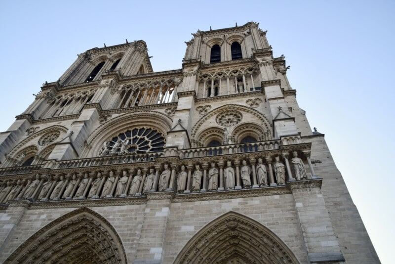 outside view of Notre Dame cathedral