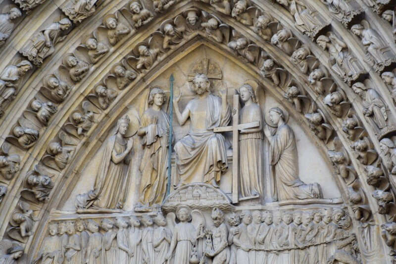 details of Notre Dame cathedral