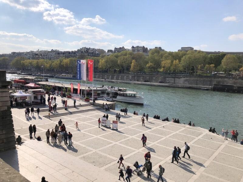 river cruise in Paris dock