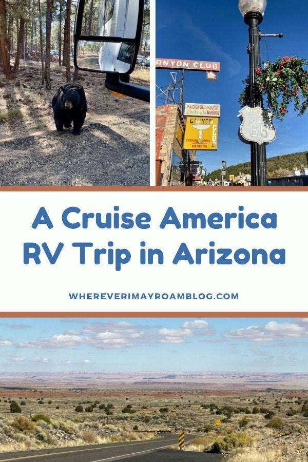 cruise america RV trip