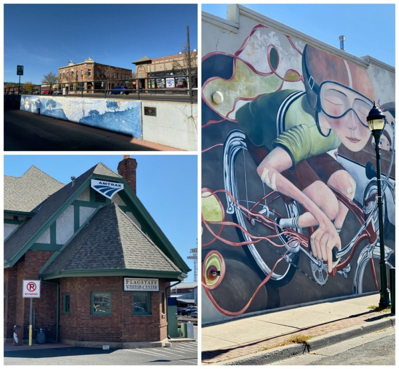 flagstaff murals and Route 66 sites