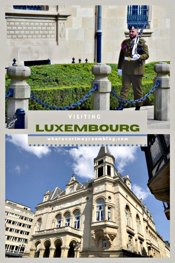 luxembourg travel pin