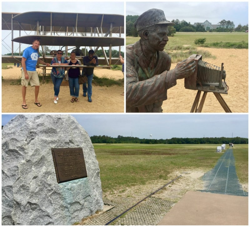 wright brothers memorial and sculptures