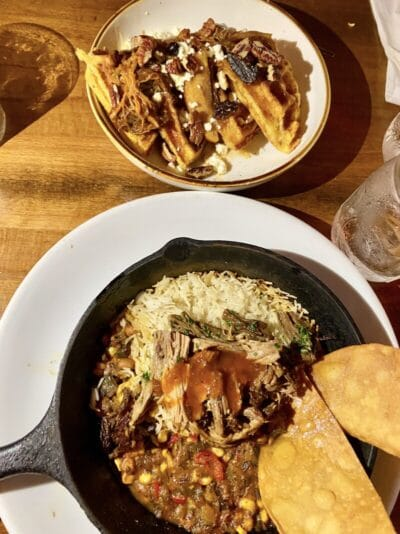 the Floridian restaurant st Augustine pozole and waffles