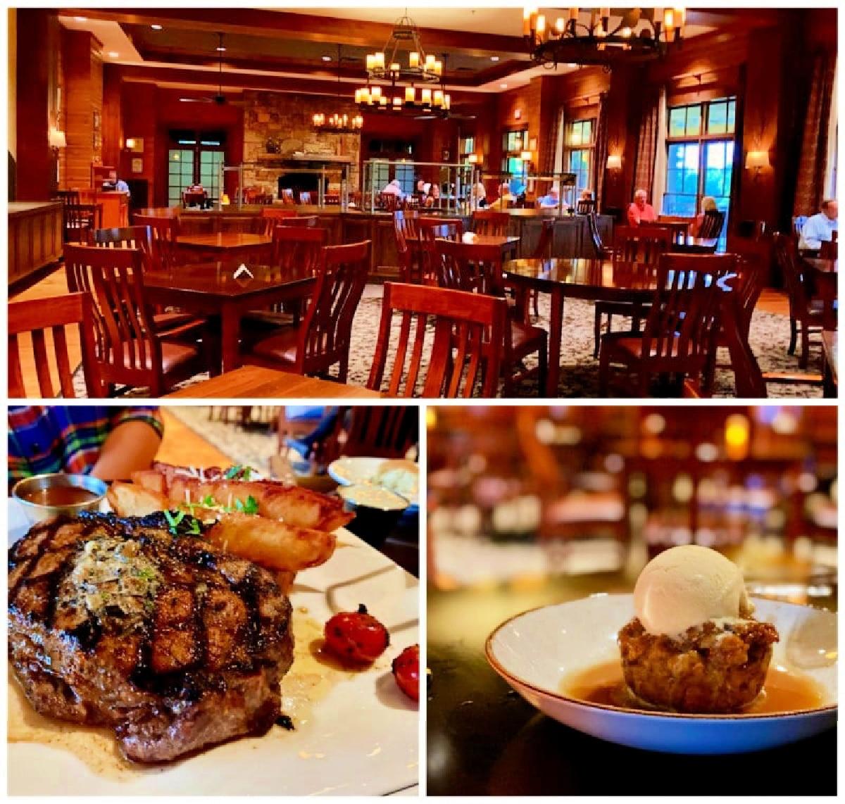 dinner at the dining room Brasstown Valley Resort