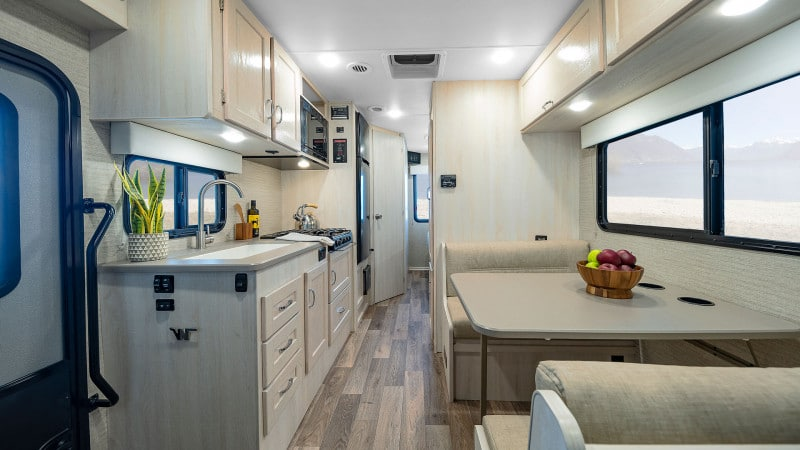 Winnebago Outlook RV Kitchen and Interior