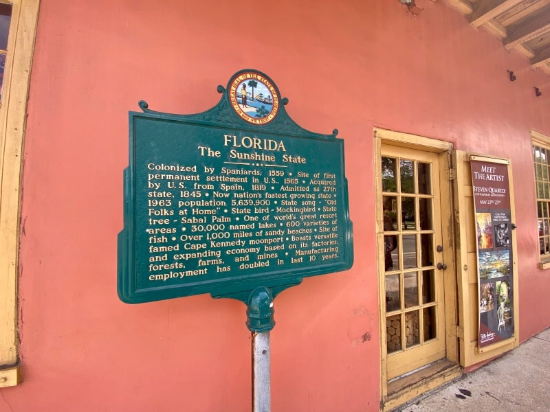 historic florida state sign