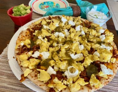 southwest breakfast pizza