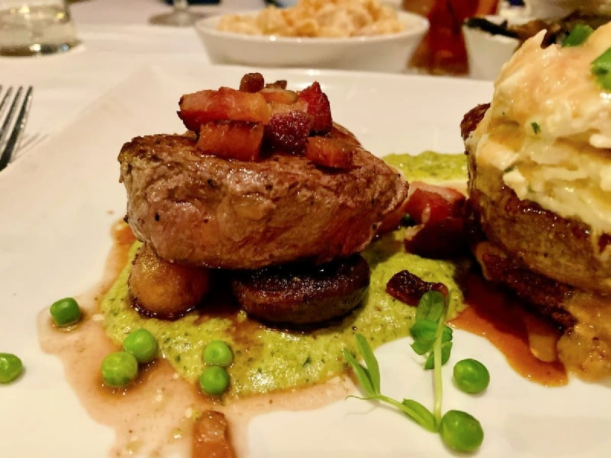 steak dish from Jackson's steakhouse in pensacola