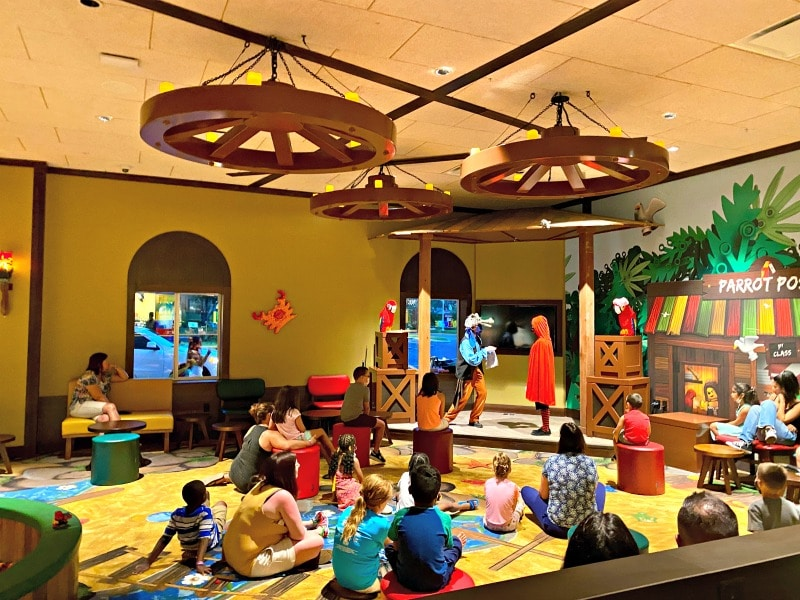 story time at Legoland pirate island hotel