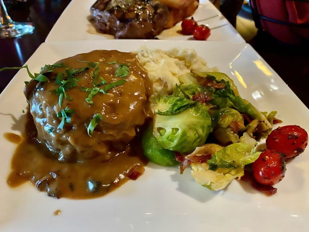 Brasstown valley meatloaf with Brussels sprouts