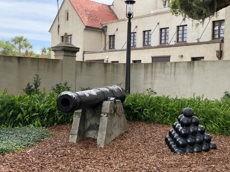 cannons in st augustine