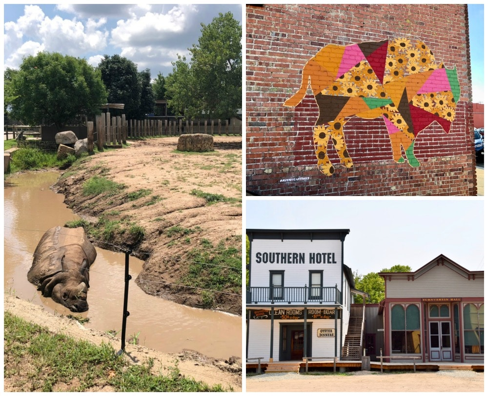 fun attractions in Wichita including the zoo, living history, and murals