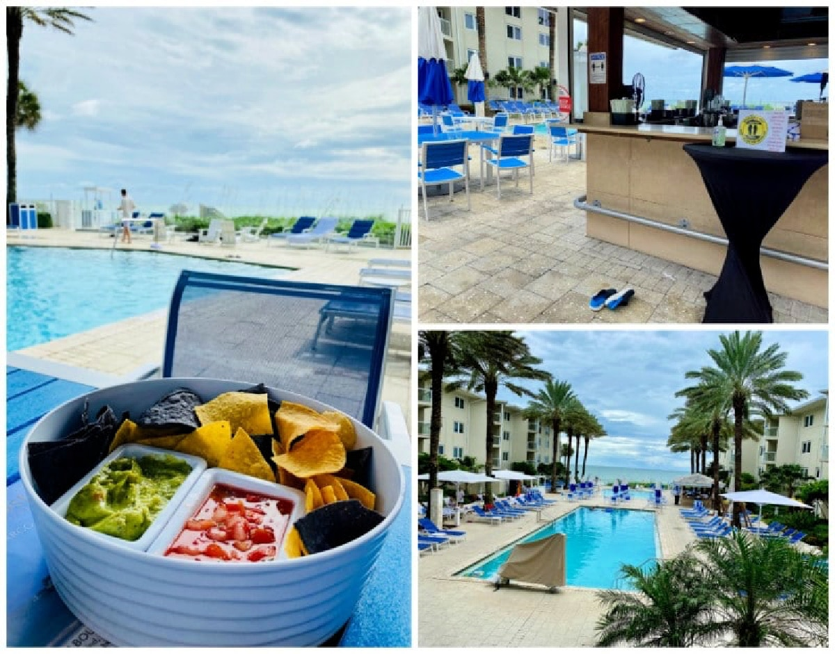 pool and pool bar at Edgewater beach hotel