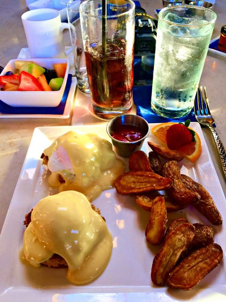 Eggs Benedict at king and prince resort