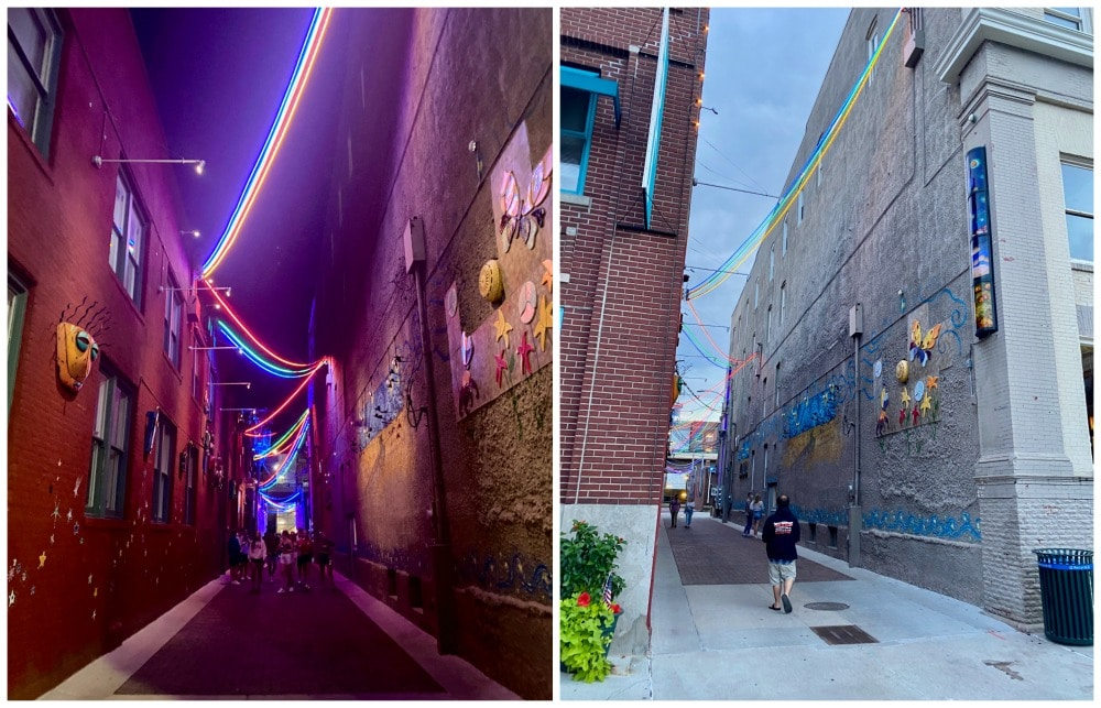 art alley lincoln nebraska by day and night