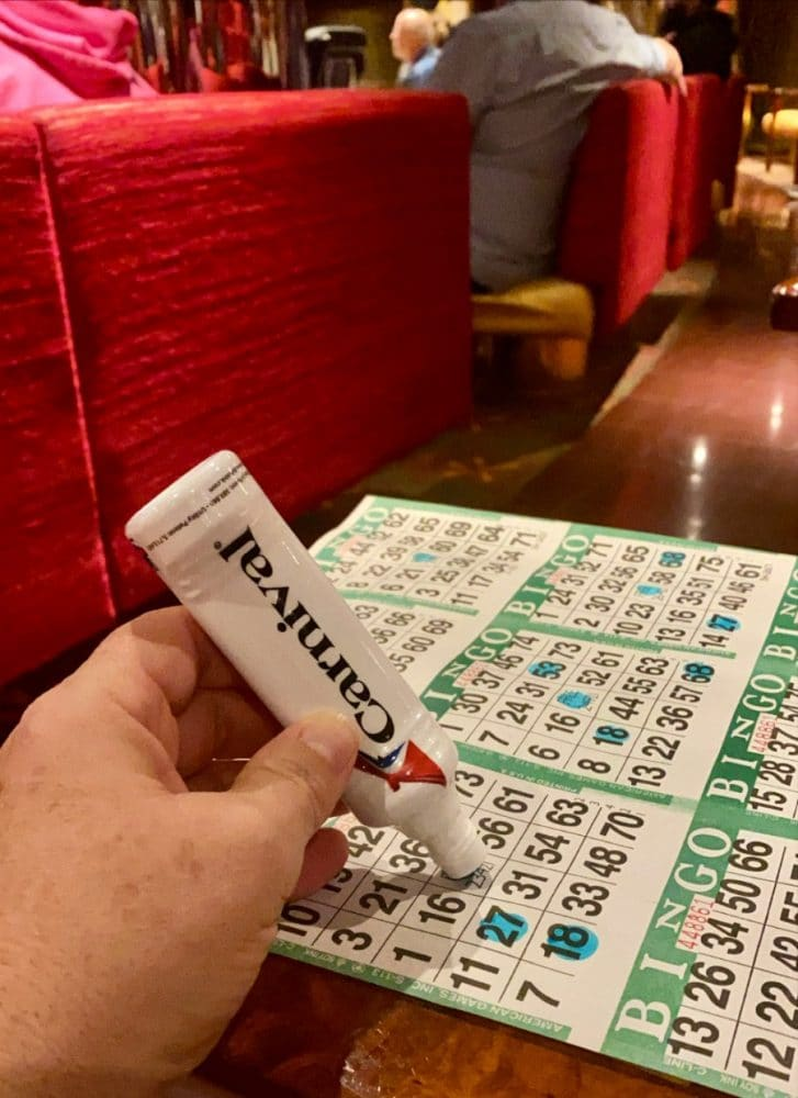 bingo on carnival vista cruise ship