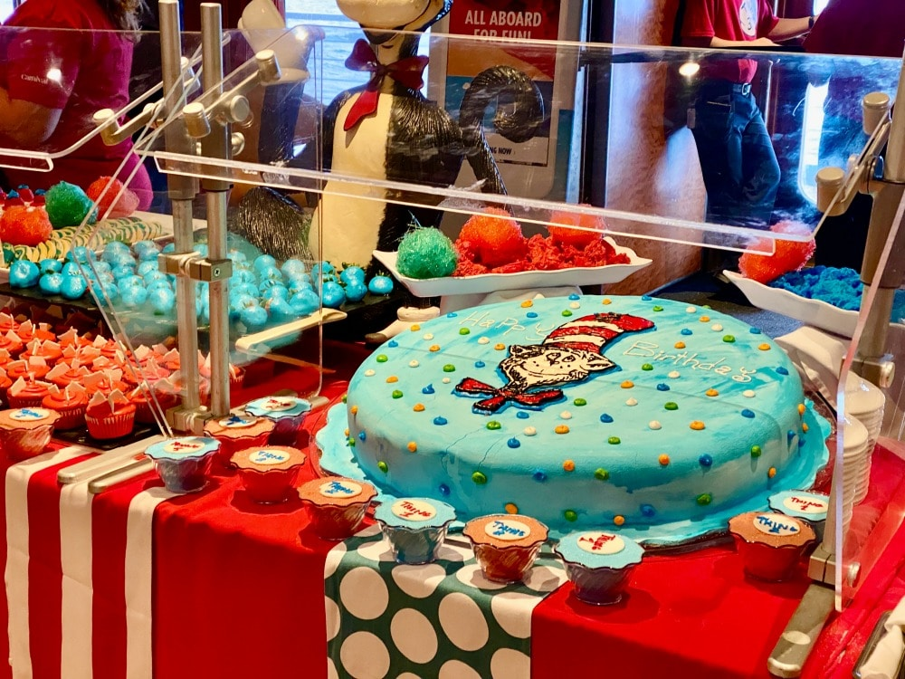 dr Seuss at sea party carnival vista