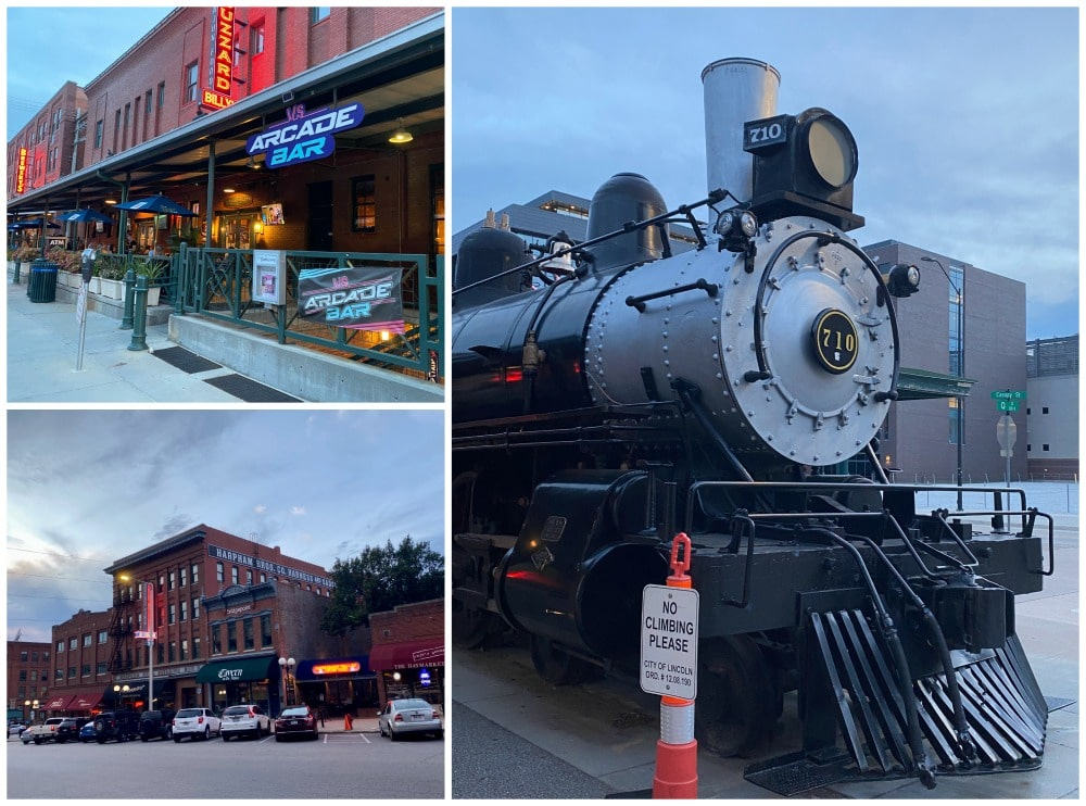 haymarket district businesses and historic train