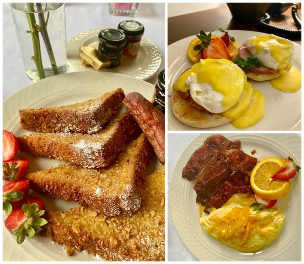 breakfast egg dishes and french toast