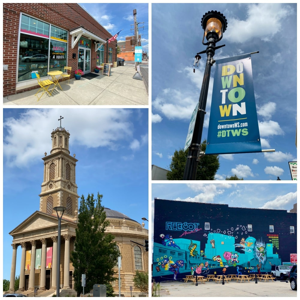 downtown winston salem signs art and murals