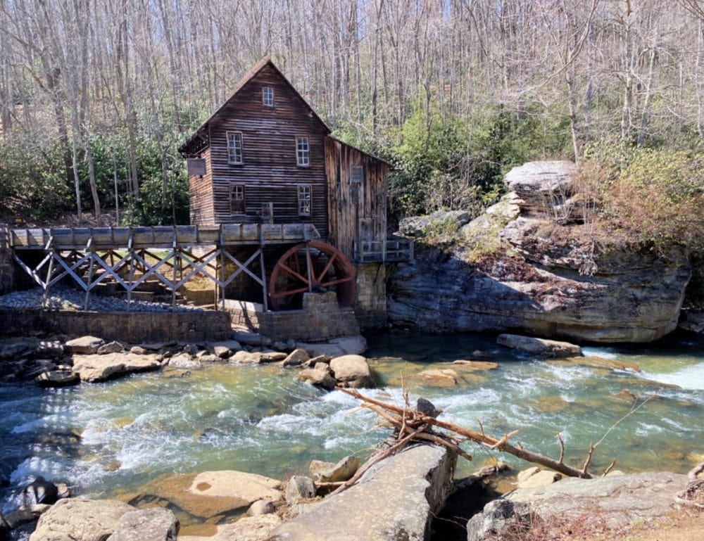 historic grist mill at Babcock state park