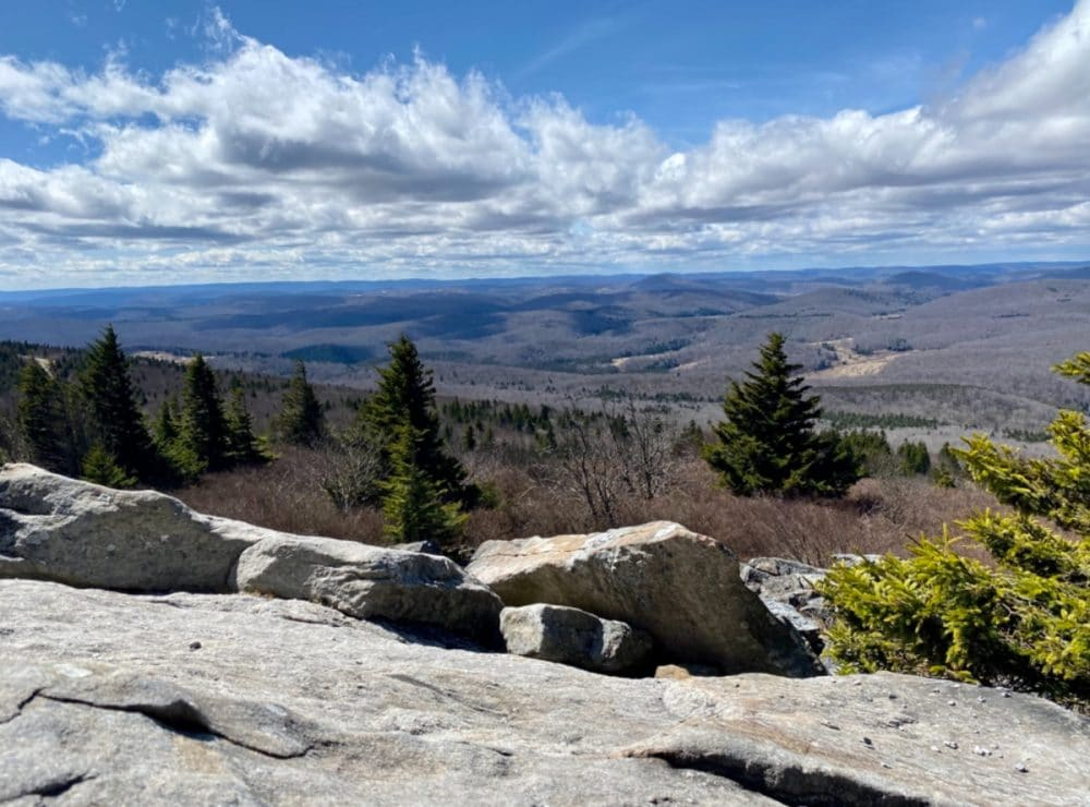 spruce knob lookout over West Virginia