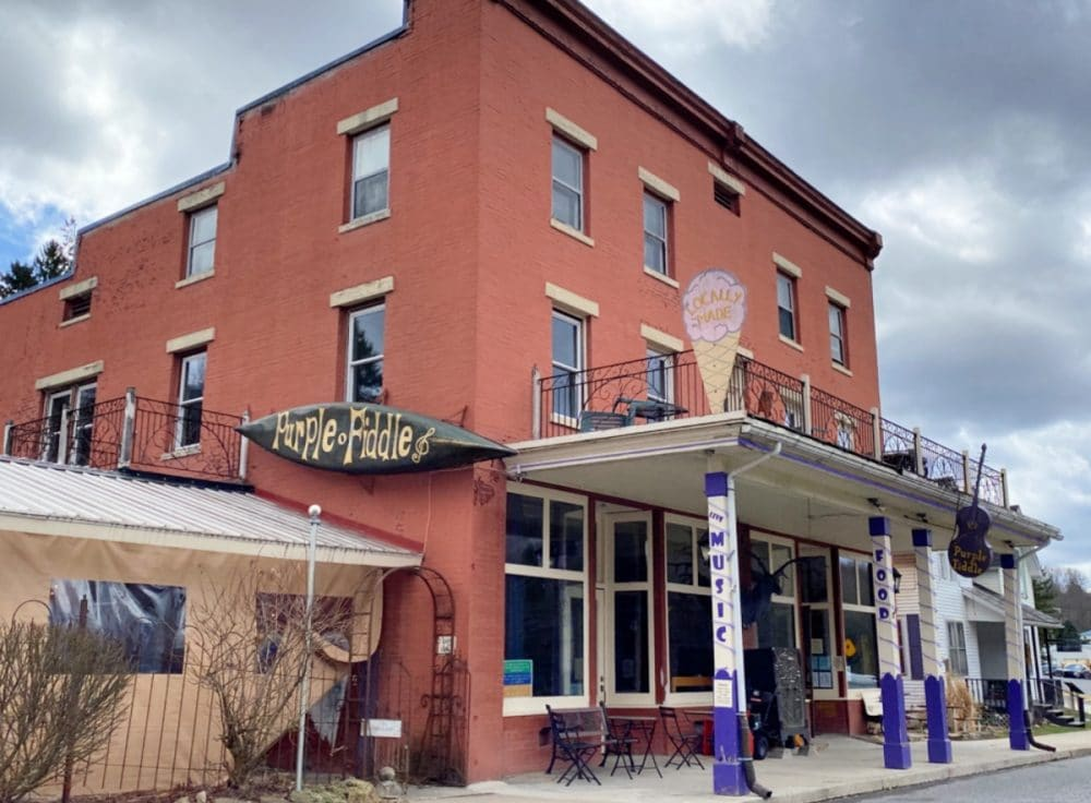 the purple fiddle in Thomas wv
