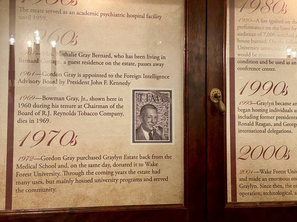 timeline of important events graylyn estate