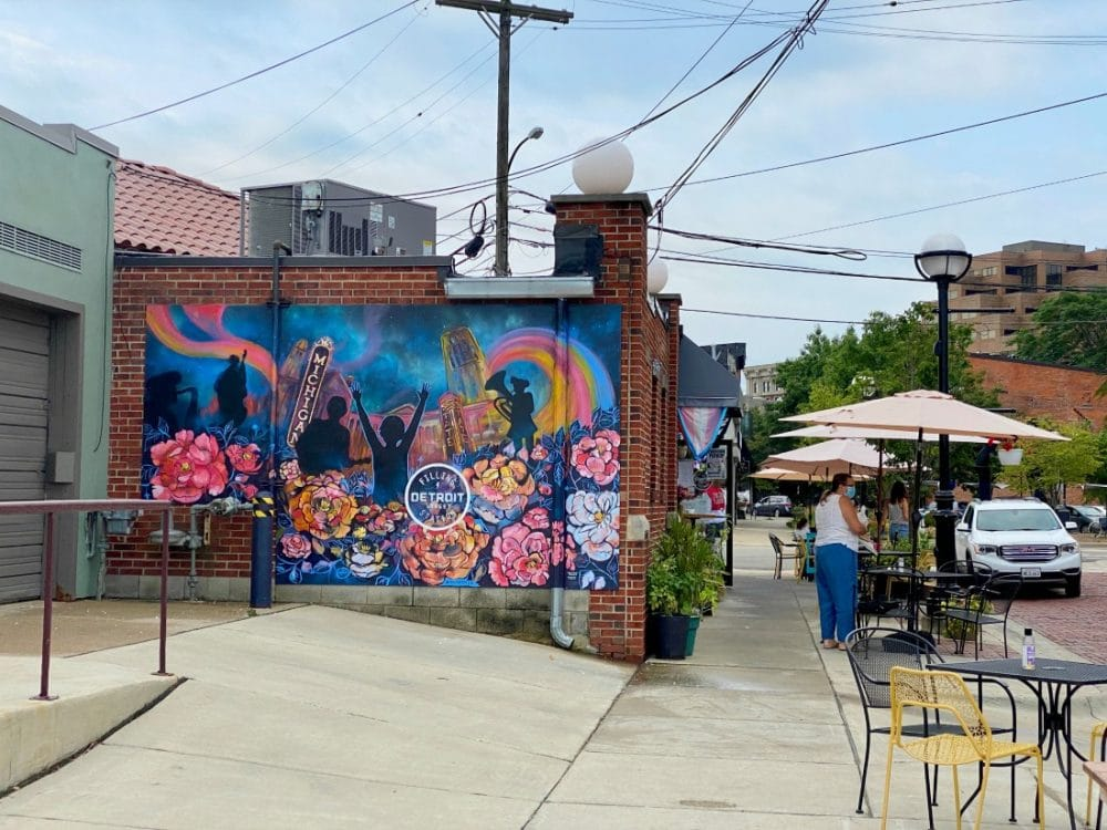 kerrytown outdoor cafes