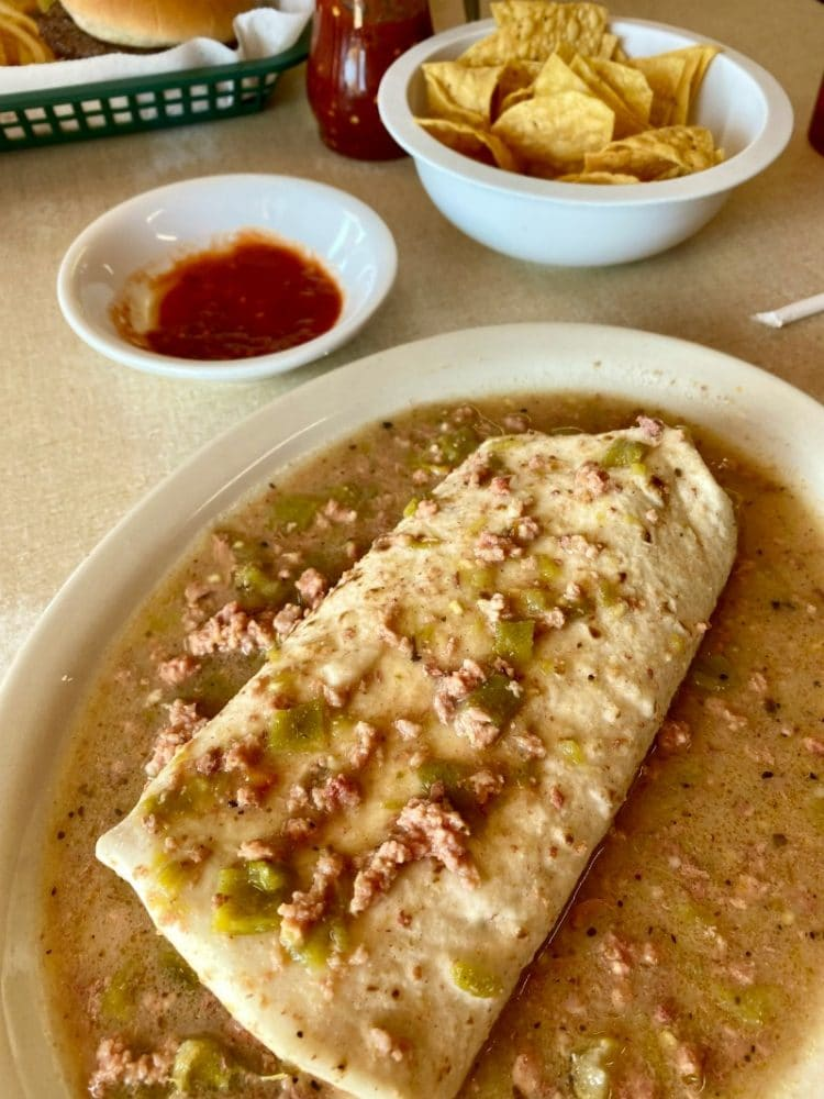 burrito with hatch green chilies winslow