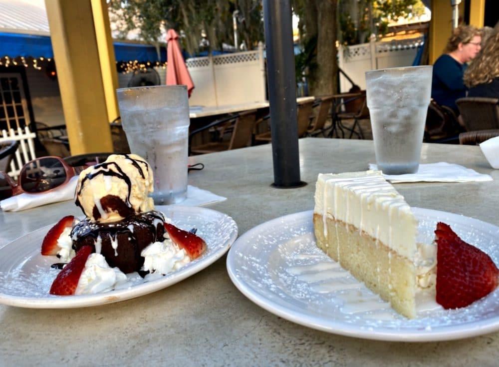 desserts at olive branch grille