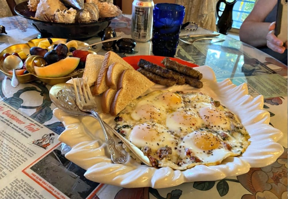 heron cay bed and breakfast egg dish