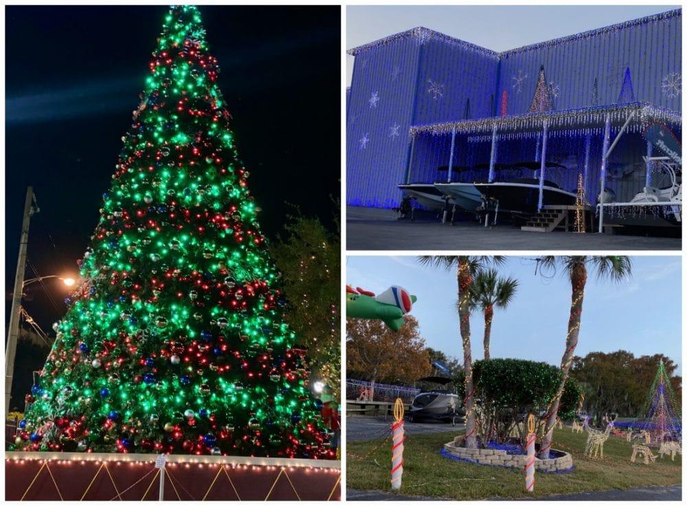 mount dora holiday tree and marina decorations