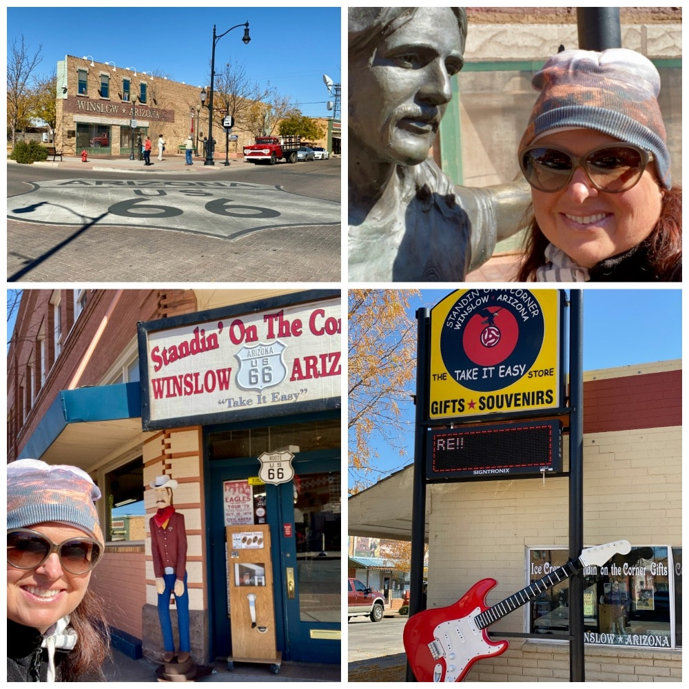 standin on the corner in winslow photo ops and statue