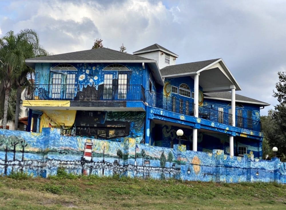 starry night house in mount dora