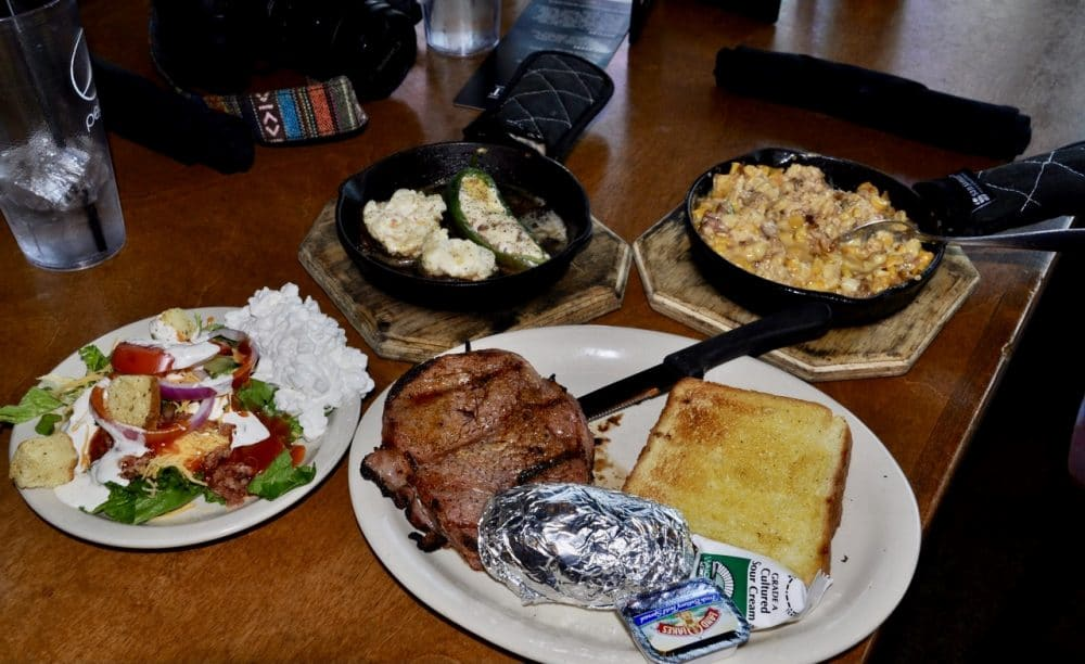 rubes steakhouse meal