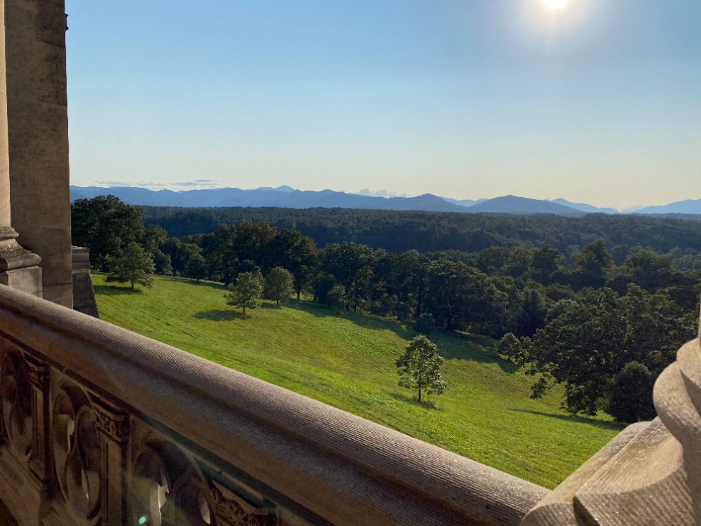 grounds from terrace at the biltmore