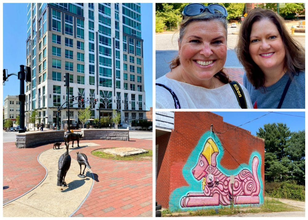 sightseeing Asheville downtown and murals
