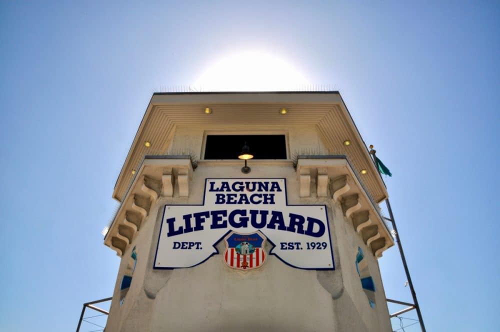 Laguna beach lifeguard stand