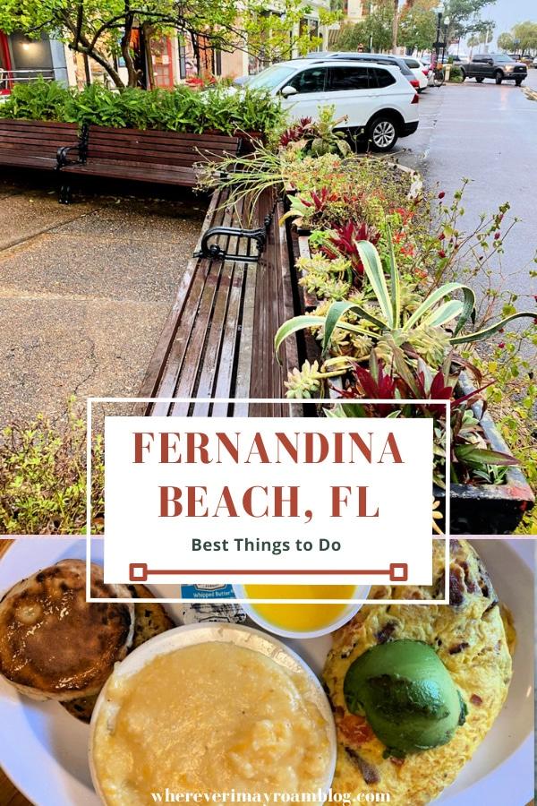 visiting Fernandina Beach, FL