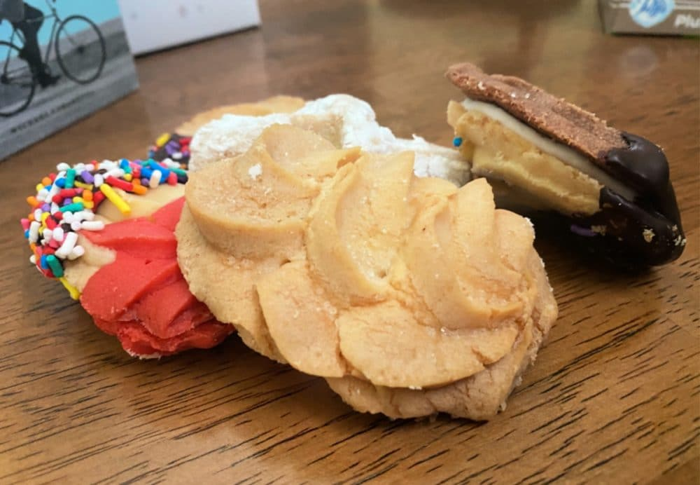 Italian cookies on desk