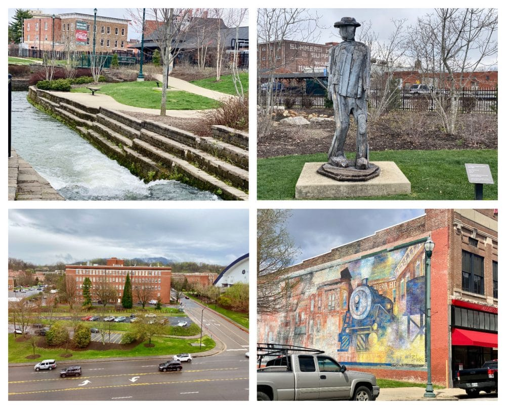 Johnson City collage mural and founders park