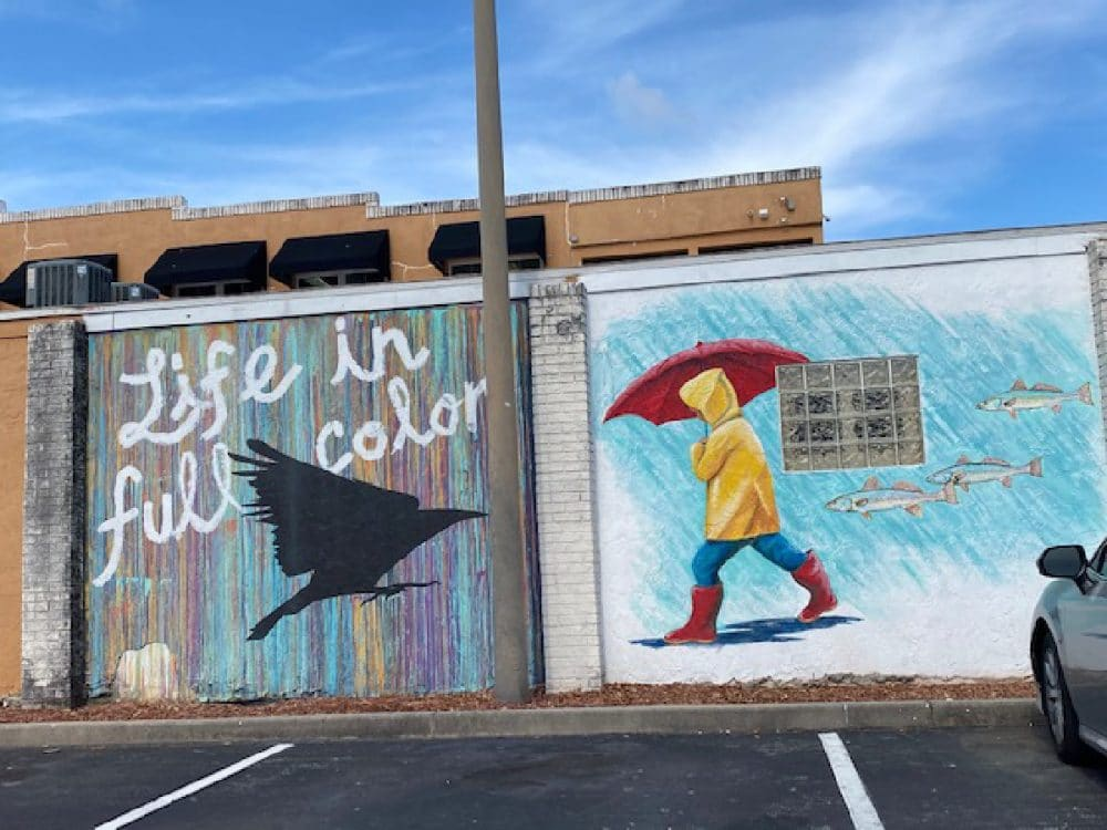 contemporary murals at eau gallie district