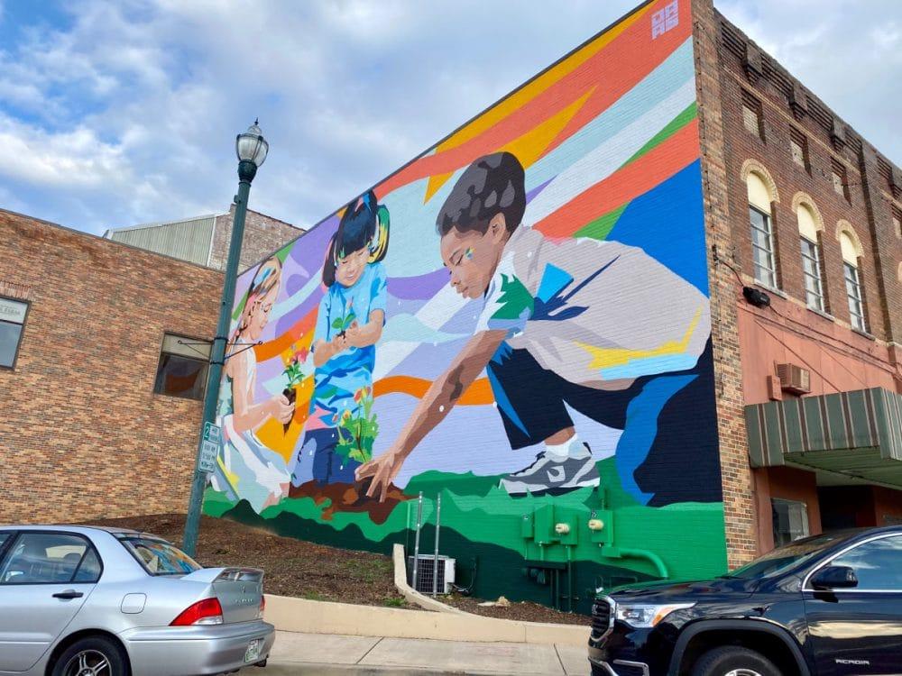 downtown Johnson City mural