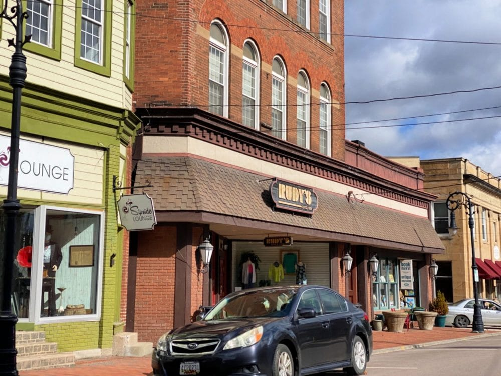 downtown shops in Frostburg Maryland