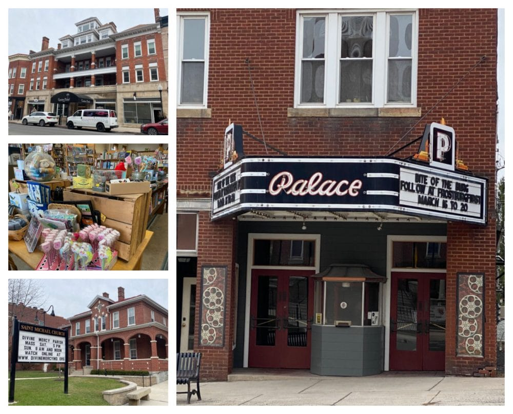 palace theater and downtown Frostburg shops