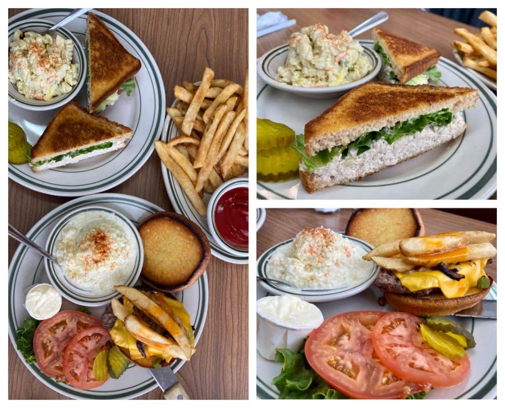 princess restaurant chicken salad and miner steak sandwiches