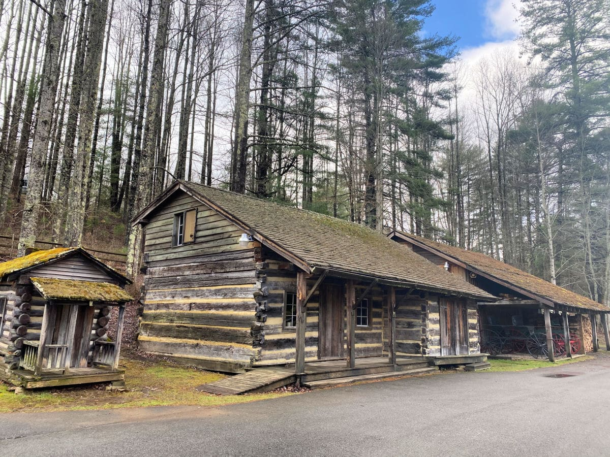 restored log cabin at youth museum beckley wv