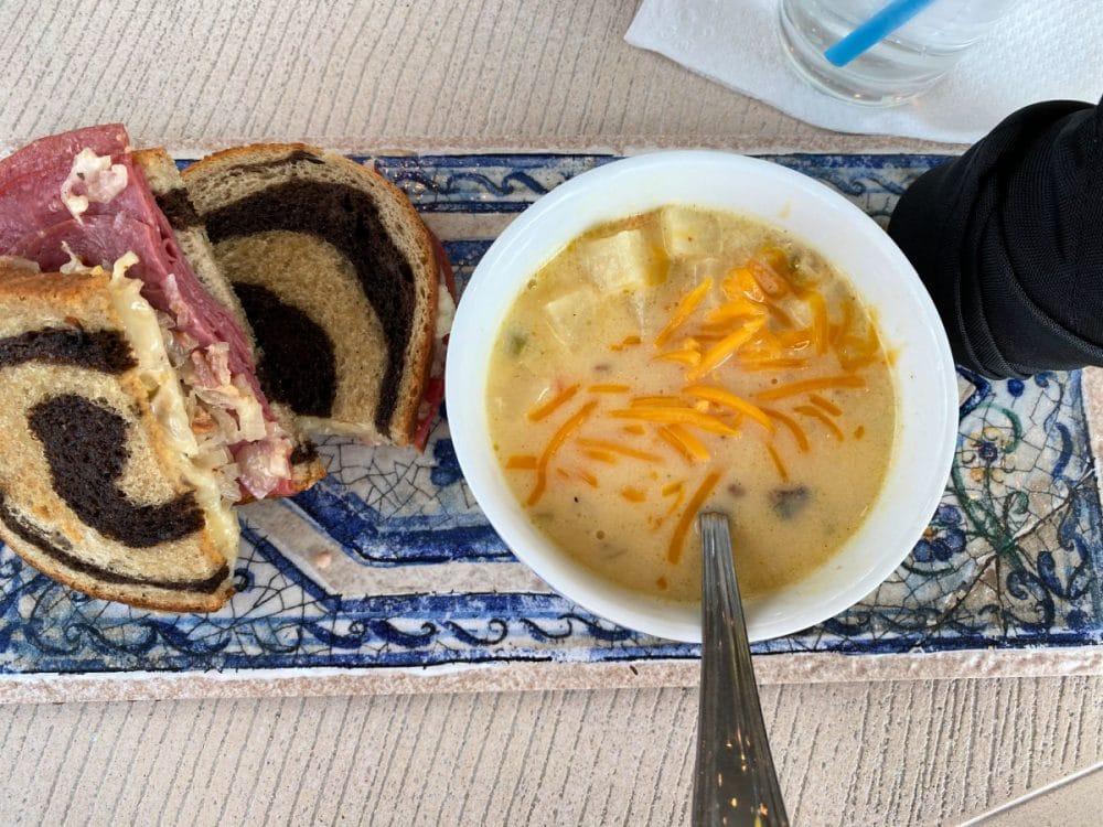 reuben and soup from Daniel Vineyard